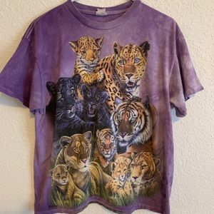 Purple tie dye Tiger tshirt